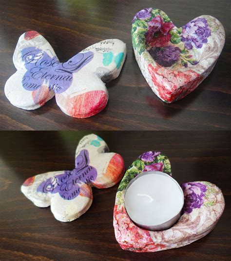 Paper Weight Craft - tealight holder and paper weight from clay a tutorial