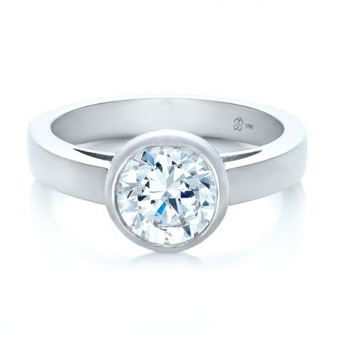 Bezel Set Engagement Rings by Custom Bezel Set Solitaire Engagement Ring 1265