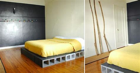 cinder block bed frame diy projects with cinder blocks ideas inspirations