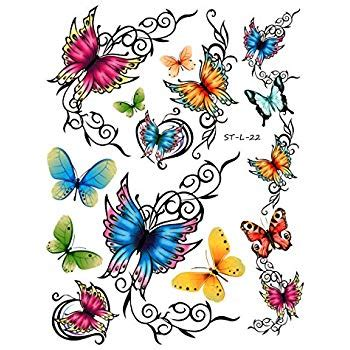 tattoo junkee free shipping amazon com temporary butterfly tattoos free shipping