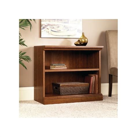 Sauder 2 Shelf Bookcase Sauder Camden County 2 Shelf Planked Cherry Bookcase Ebay