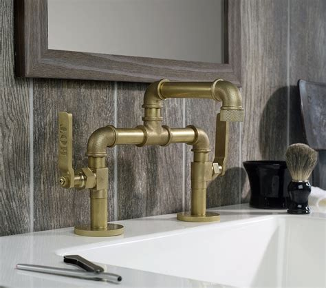 industrial style faucets industrial style faucets by watermark to give your plumbing the cool look you usually wanted