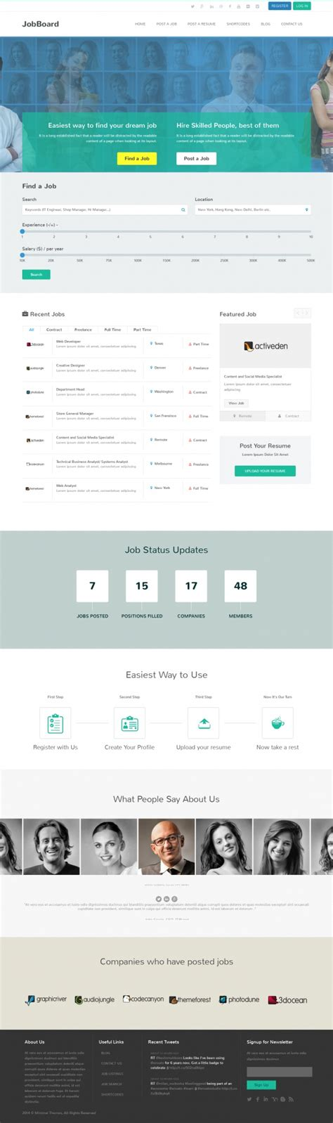 bootstrap themes effects jobboard a premium directory listings wordpress theme