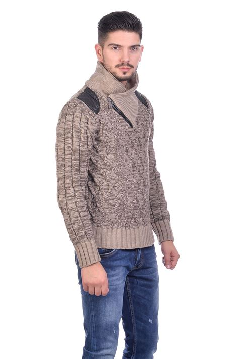 mens knit pullover new mens fashion chunky cable knit thick winter jumper