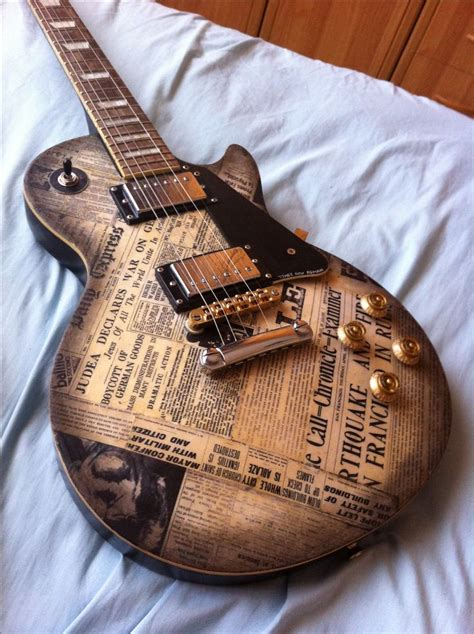 design guitar online diy guitar newspaper finish les pauls pinterest