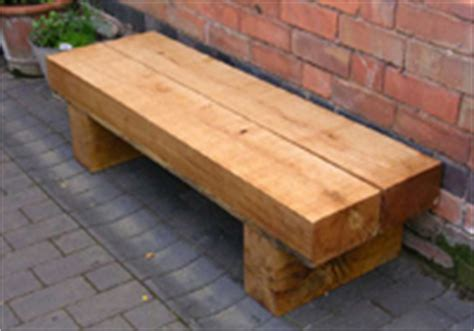 low bench seating solid timber sleeper benches for outdoors