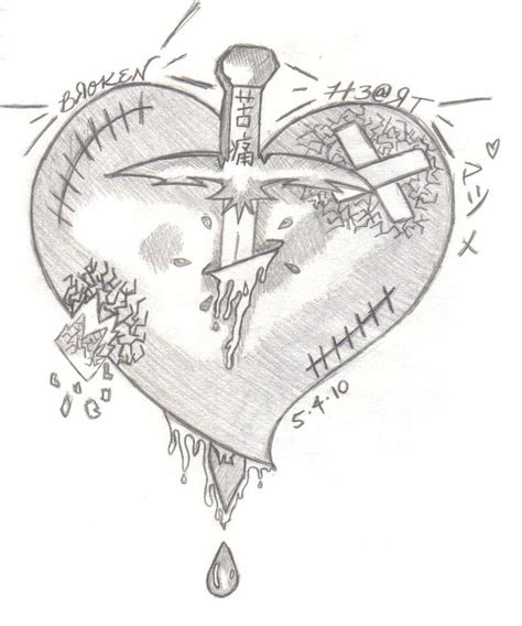 doodle meaning hearts best 25 broken pics ideas on