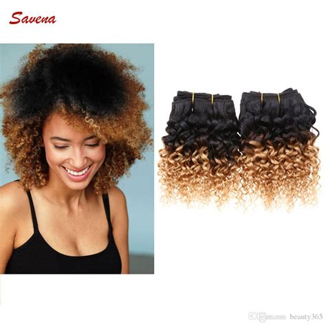 one inch curly hairstyles 8 inch 6a grade brazilian ombre kinky curly hair wefts 100