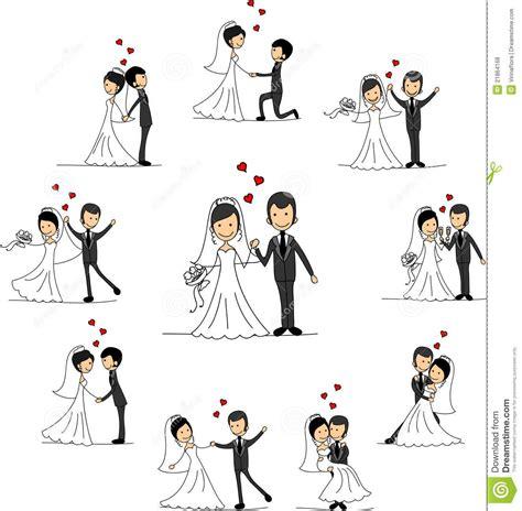 braut zeichnen personajes de dibujos animados de la boda vector fotos de