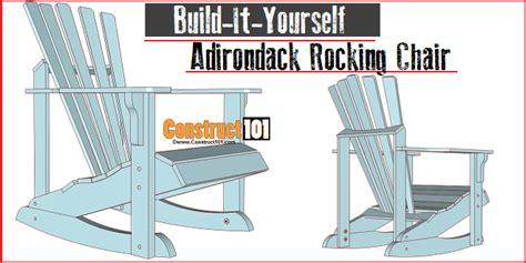 adirondack rocking chair plans construct