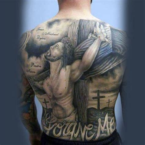 religious back tattoos for men 40 jesus back designs for religious ink ideas