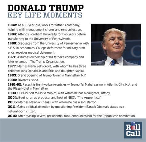donald trump personal biography donald trump biography timeline
