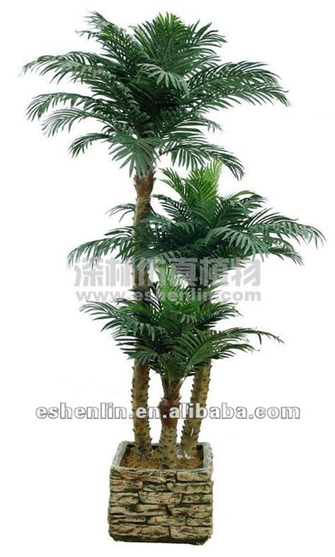 wholesale silk trees and plants indoor potted palm tree in