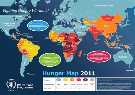 pc globe maps and facts world hunger map 2011 the hunger of today