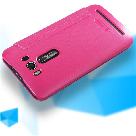 Nillkin Sparkle Asus Zenfone 2 Laser 5 0 Flip Cover Pink 2 nillkin sparkle series new leather for asus zenfone 2