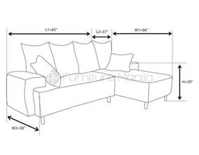sofa dimensions standard platinum l shaped sofa furniture manila philippines
