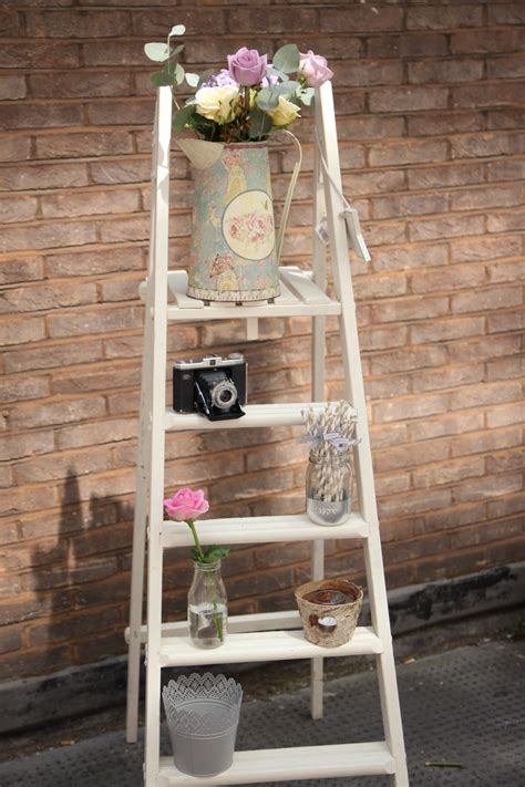 white wooden vintage white wooden ladder beyond expectations weddings