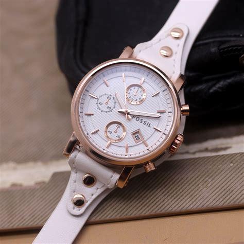 Harga Jam Tangan Wanita Merk Fossil Original jam tangan fossil f 020 tali kulit delta jam tangan
