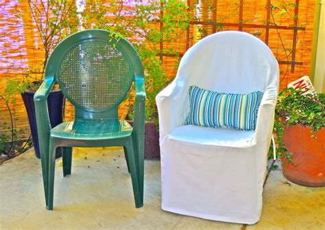 diy plastic chair best 25 plastic chair covers ideas on diy decoupage with fabric outdoor chair