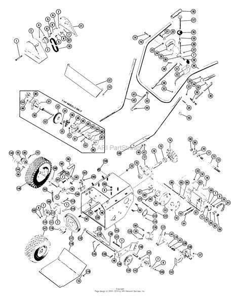 ariens snowblower parts diagram ariens 910002 000001 st624 6hp tec 24 quot blower