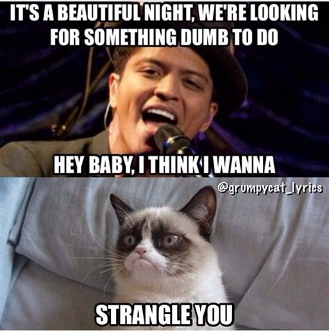 Singing Cat Meme - grumpy cat sings marry you by bruno mars cats world s