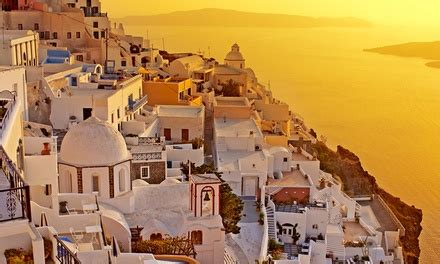 greece vacation with airfare from great value vacations in santorini groupon getaways