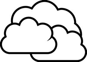 coloring pictures clouds clipart