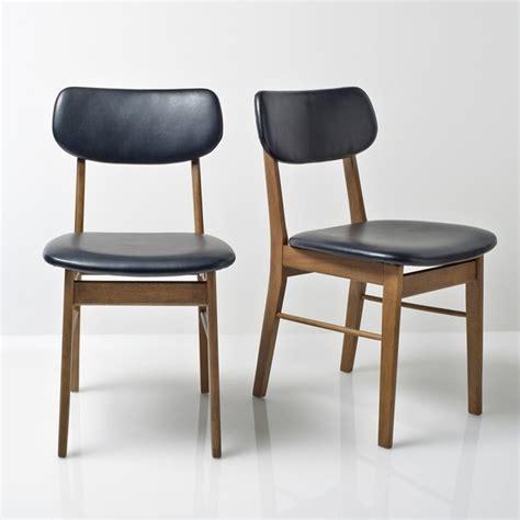 chaise bébé stokke chaise vintage lot de 2 watford noir uni la redoute