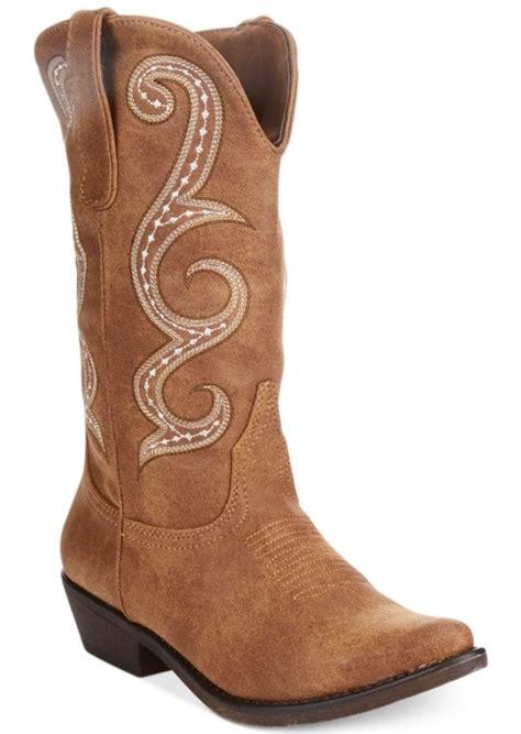 boots at macy s american rag american rag dawnn western boots created for
