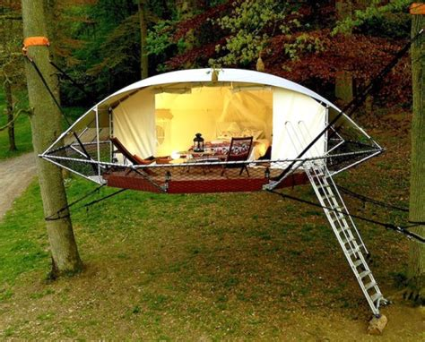 Octagon Cabin Plans by Lightweight Dom Up Treehouse Tent Can Stay Up For Decades