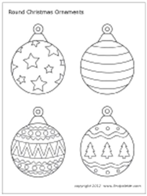 round christmas ornament coloring page christmas tree ornaments printable templates coloring