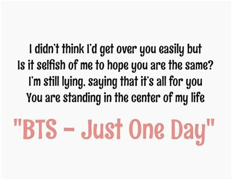 bts just one day lyrics bts just one day inspiring quotes from bts bangtan
