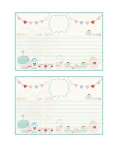 cupcake recipe cards templates cupcake recipe cards and more all free the cottage