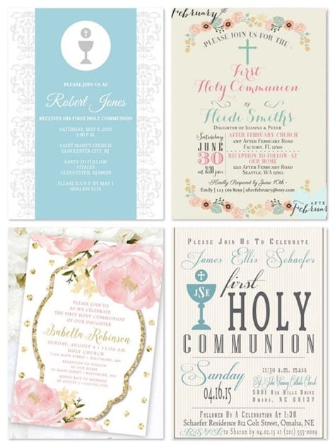 printable invitations religious holy communion invitations tableware apparel gifts