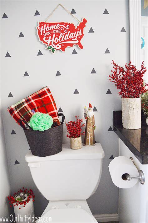 bathroom christmas decor christmas home tour 2016 our thrifty ideas