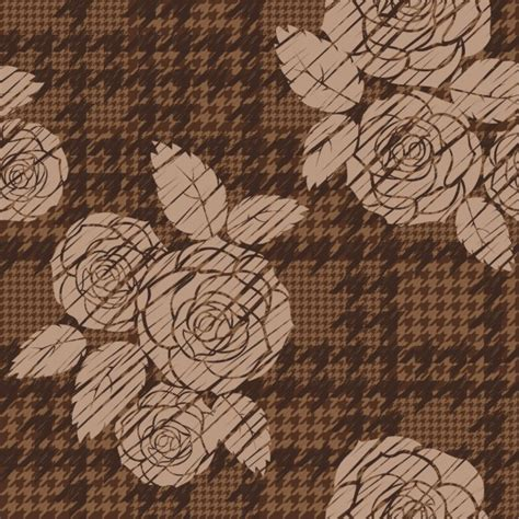 houndstooth pattern ai rose houndstooth pattern vector free download