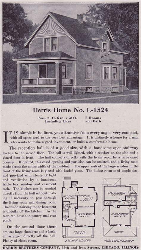 Farmhouse Style House Plans Plan L 1524 Late Queen Anne Farmhouse C 1918 Harris