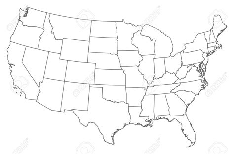 us map with states blank outline united states outline clipart bbcpersian7 collections