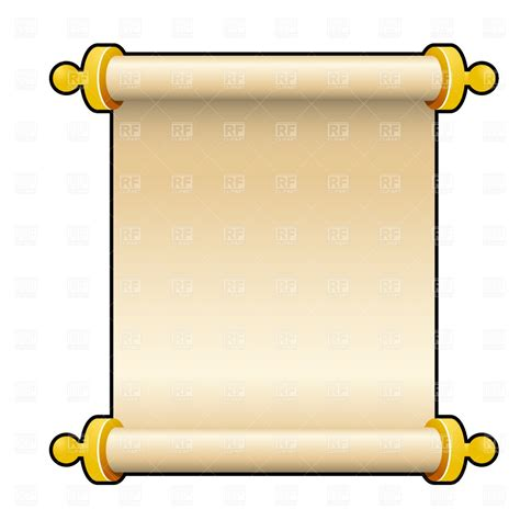 clip scroll ancient parchment scroll vector image vector artwork of