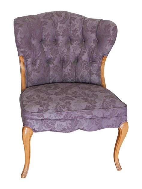 Lavender Accent Chair Vintage Style Purple Accent Chair Chairish