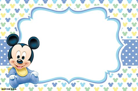 free printable mickey mouse 1st birthday invitations