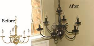 Spray Painting A Brass Chandelier Style With Cents Hardware Fixtures