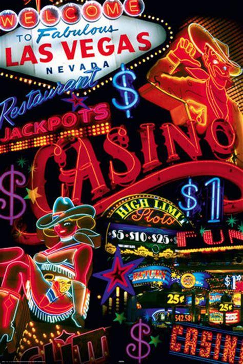 Plakat Las by Plakat Obraz Las Vegas Casino Signs Kup Na Posters Pl
