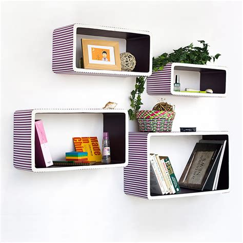 rectangle wall shelf trista purple strip rectangle leather wall shelf