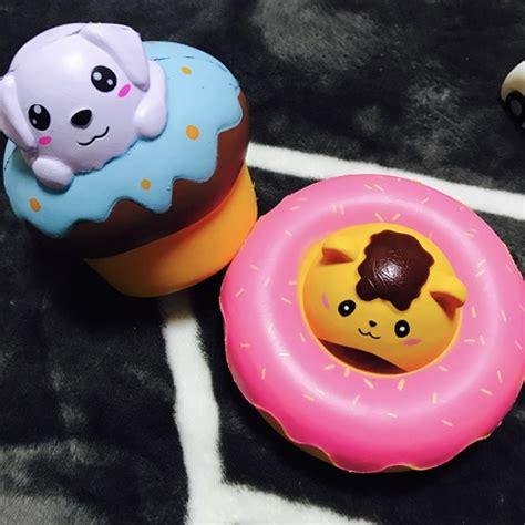 Squishy Cafe Animal Donut Cafe Animal Donut rising large animal donut and cupcake squishy on storenvy