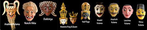 On His Blindness Masks Of Sri Lanka