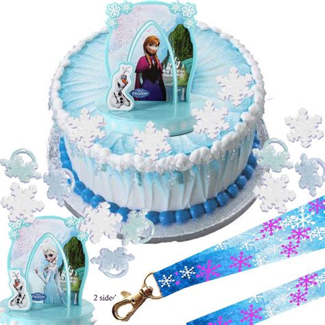disney frozen elsa cake set cupcake rings