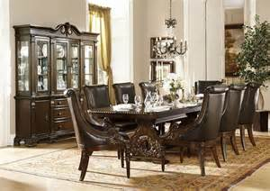 formal dining room set von furniture orleans formal dining room set