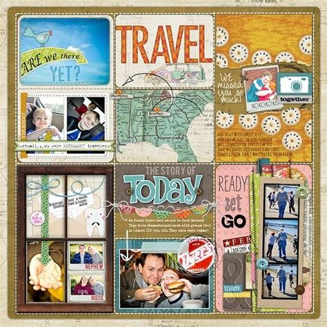 Scrapbook Layout Travel | scrapbook layout travel by frances i love the different
