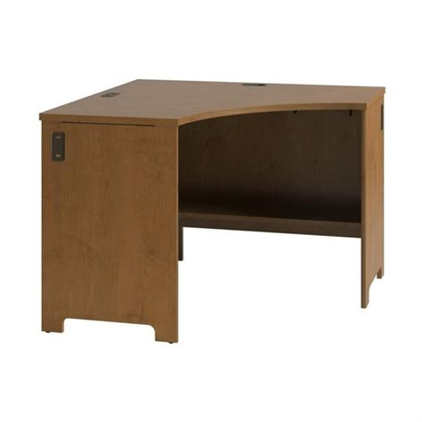 cherry wood corner desk bush envoy wood corner desk in natural cherry pr76320